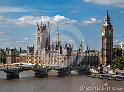Parliament Building and Big Ben London England Editorial Photo