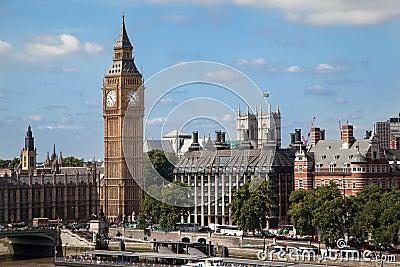 Parliament Building and Big Ben London England Editorial Stock Photo