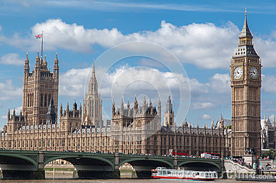 Parliament Building and Big Ben London England Editorial Image