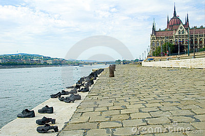 Parliament Building in budapest and shoes
