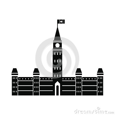 Free Parliament Buildings, Ottawa Icon, Simple Style Royalty Free Stock Image - 79538686