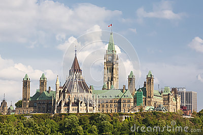 Parliament Buildings in Ottawa Ontario