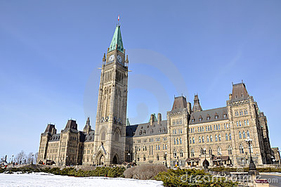 Parliament Buildings winter view, Ottawa, Canada