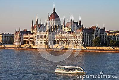 Parliament in evening light, Budapest