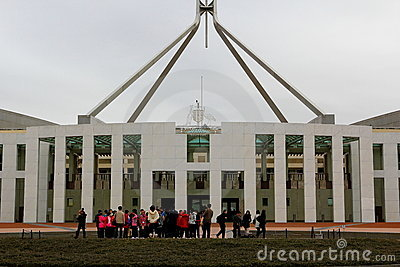 Parliament House Canberra Editorial Stock Photo