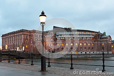 Parliament House in Stockholm