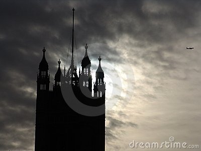 Parliament Tower Silhouette