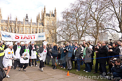 Parliamentary Pancake Race. Editorial Image