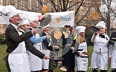Parliamentary Pancake Race. Editorial Stock Image