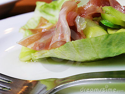 Parma ham and asparagus salad