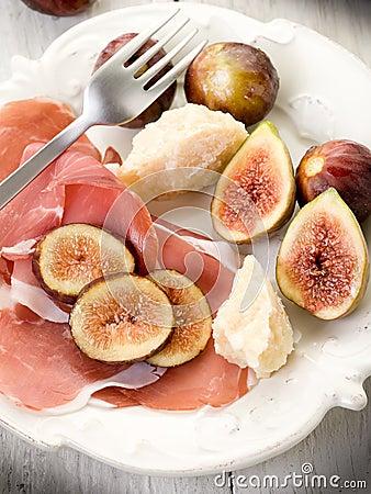 Parma ham, parmesan cheese