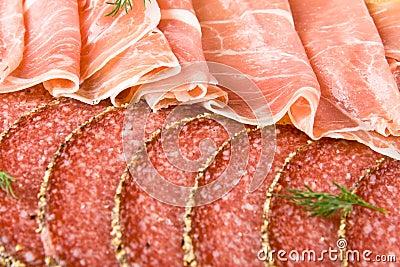 Parma ham and salami