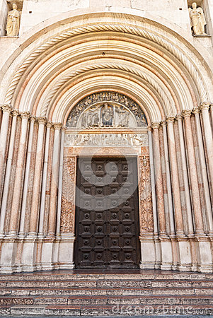 Parma - Portal of the Baptistery