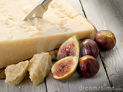 Parmesan cheese and figs