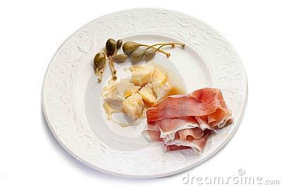 Parmesan cheese  with parma ham