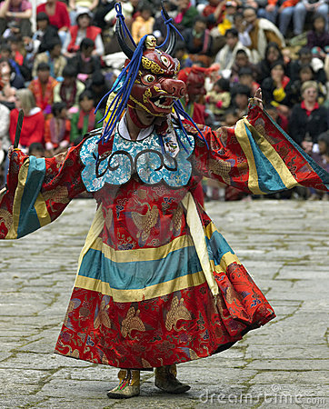 Paro Tsechu - The Kingdom of Bhutan Editorial Stock Image