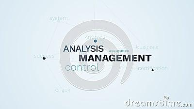 Parola animata del sistema del controllo di successo di certificazione di strategia di organizzazione di affari di assicurazione  archivi video