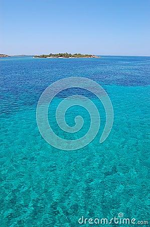 Paros island sea view