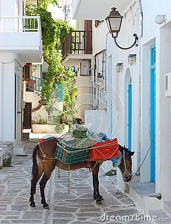 Paros island streets