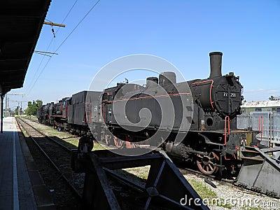 Parowego silnika lokomotywa