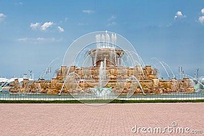 Parque Chicago de Grant de la fuente de Buckingham