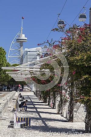 Parque das Nacoes / Park of Nations - Lisbon Editorial Photo