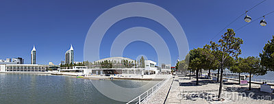 Parque das Nacoes / Park of Nations - Lisbon Editorial Stock Image