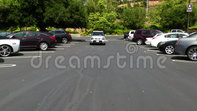Parque de estacionamento 1a video estoque