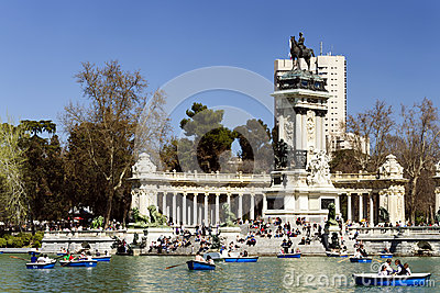 Parque del Retiro, Madrid Editorial Image
