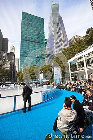Parque NYC de Bryant Foto de archivo editorial