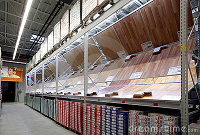 Parquet department in construction materials store Editorial Image
