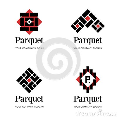 Free Parquet Logo Template. Flooring Logo Template. Abstract Logo Design Templates For Parquet Company, Flooring Company Stock Image - 113864291