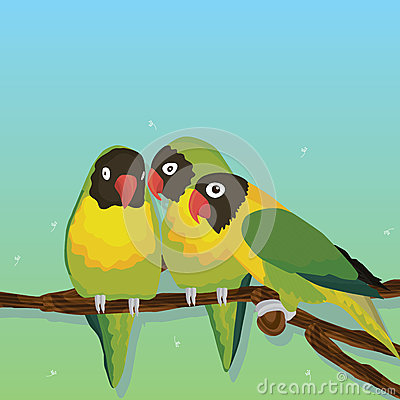 Free Parrot Bird Group Stock Images - 53751634