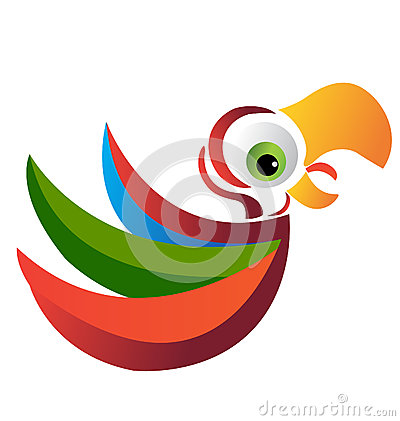 Parrot logo vector eps 10
