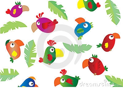 Parrots background