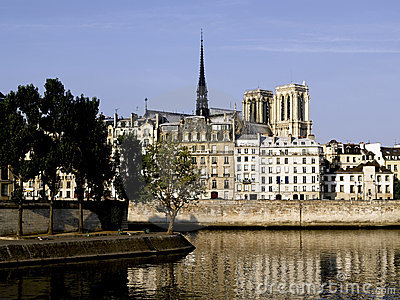 París: El la de Ile St. Louis y de Ile de cita