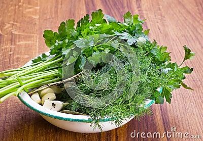 Parsley dill and garlic