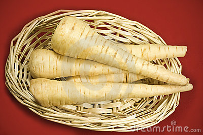 Parsnips in basket