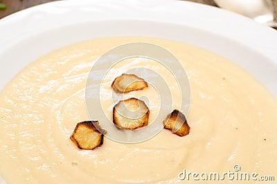 Parsnips on a pale soup