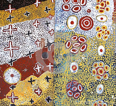 Part of an ancient Aboriginal artwork,Australia