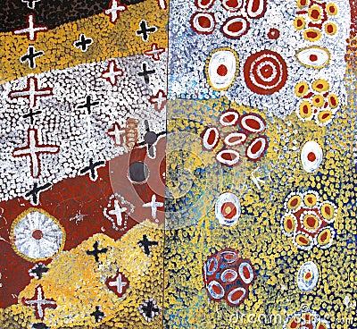 Part of an ancient Aboriginal artwork,Australia