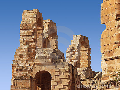 Part of amphitheater ruins