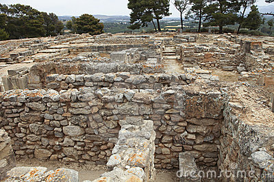 Part of the ancient Minoan city of Phaistos