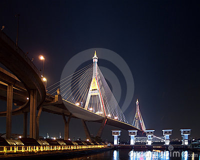 Part of Bhumibol Bridge