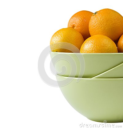 Part of a bowl with tangerines