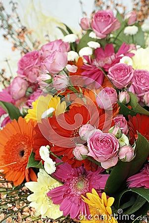 Part of bridal bouquet