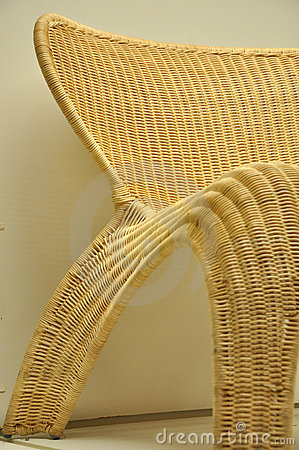 Part of cane chair