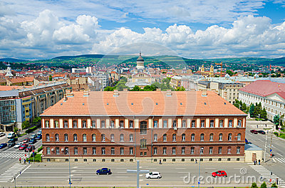 Part of Cluj city centre