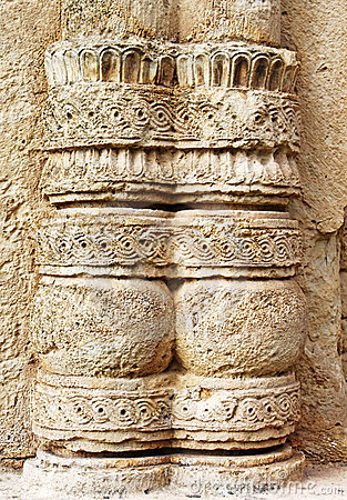 Part of column of monastery Gelati