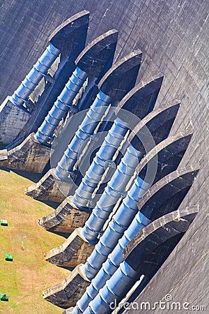 A part of concrete dam